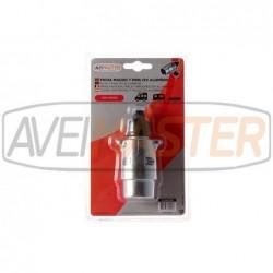 12V Stecker Aluminium 7...