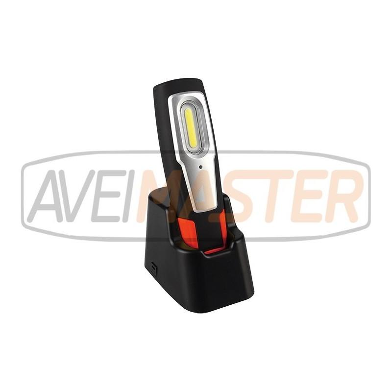led cob akku handleuchte lampe 2w 200 lumen mit magnet. Black Bedroom Furniture Sets. Home Design Ideas