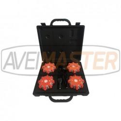 4er LED-Blitzleuchten-Set...