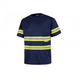 T-Shirt Reflektor Blau Gelb...