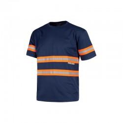 T-Shirt Reflektor Blau...