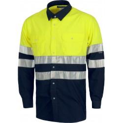 Langarm-Hemd 1/1 Warnschutz...