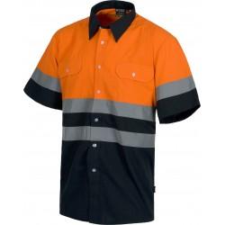 Kurzarm-Hemd Warnschutz...