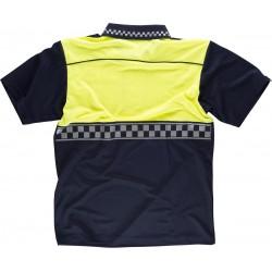Polo-Shirt Leucht Gelb Blau...
