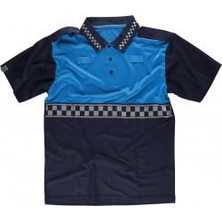 Polo-Shirt Leucht Blau Blau...