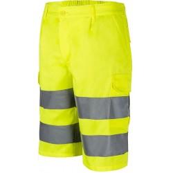 Warnschutzhose Gelb Bermuda...