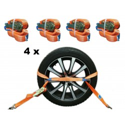 4 x 35mm Spanngurt Orange...