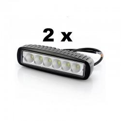 2 x 18W LED...