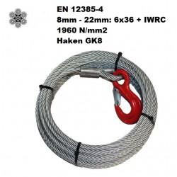 10mm x 30m Winden-Stahlseil...