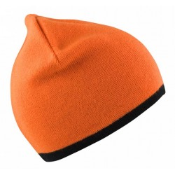 Warnschutz-Strickmütze Orange