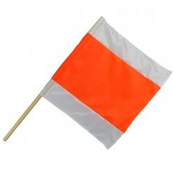 Warnflagge weiß orange...